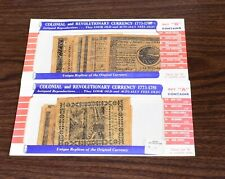 Colonial & Revolutionary Currency Reproduction of 1773-1781, Sets A & B (T-811)