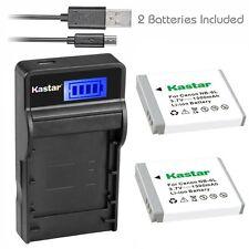 NB-6L Battery& Charger for Canon PowerShot D10, D20, D30, ELPH 500 HS, S90, S95