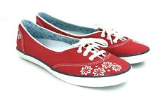 Keds Women's Red, White, Embroidered, Floral, Shoes Size 9.5