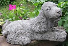 Concrete Large Cocker Spaniel Dog Statue
