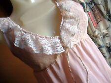 Vtg Half Slip 60's Lacey Bodice Rose Pink Half-Slip Nighty MEDIUM