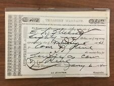Republic of Texas Treasury Warrant Unsigned and Uncirculated, #4113 for $80.00