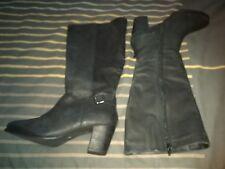 Jolies bottes en cuir 38 noir neuve la redoute