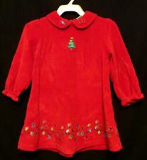 Nwot Girls Nursery Rhyme Red Velour Embroidered Christmas Dress Size 24 Months