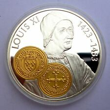 Netherlands Antilles 10 Gulden 2001 Silver Proof with Gold Trade coin Ecu d'or