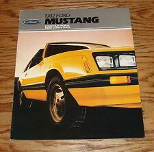 Original 1982 Ford Mustang Sales Brochure 82 GLX GT
