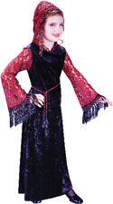 Morris Costumes Girls Long Sleeve Vampire Classic Child Costume 8-10 . FW5873MD