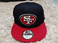 San Francisco 49ers New Era Adjustable Snapback 9fifty Black/Red NFL Cap/Hat