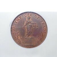 1795 Great Britain-Suffolk Halfpenny Token, 'For Use of Trade', DH-21, NGC AU58.