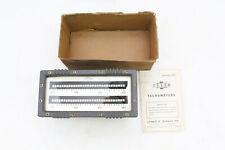 James Biddle Frahm Resonant Reed Tachometer, Original Box & Paperwork