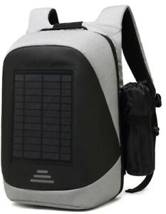 Solar Powered Backpack For Business, Students Stylish Laptop Bag. Fast Shipping!