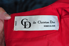 Vintage de  Christian Dior Dress   Robes Du Soir Red  Size: 8 Party Dress