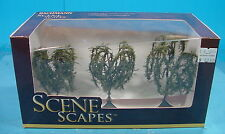 """O/S/HO/N BACHMANN SCENE SCAPES 32014 THREE 3'-3.5"""" WILLOW TREES FOR LAYOUT"""