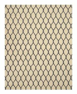 Ivory Transitional Chain-Link Rug