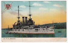 USS ALABAMA PC Postcard BATTLESHIP BB-8 US Navy NAVAL USN Military WAR Ship