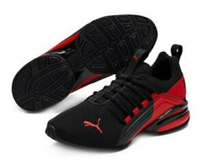 New PUMA Axelion Boys' Athletic Shoe Size 7 Youth Black & Red