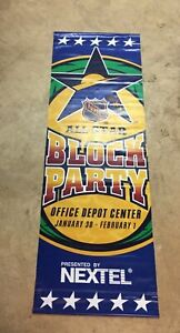 Vintage 2003 NHL All-Star Weekend Florida Panthers Double Sided Street Banner
