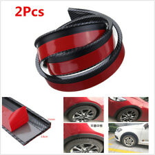 2Pcs 1.5M Car Fender Flare Wheel Eyebrow Trim Protector Lip Carbon Fiber Color