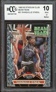 1992-93 Stadium Club Beam Team #21 Shaquille O'neal Rookie BGS BCCG 10 Mint+