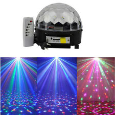 IR Remote Digital RGB LED Crystal Magic Ball Mini Disco DJ Laser Stage Light MP3