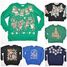VTG 90s Novelty XMAS Sweatshirt Christmas Santa Reindeer Jumper/Sweater S-M-L-XL
