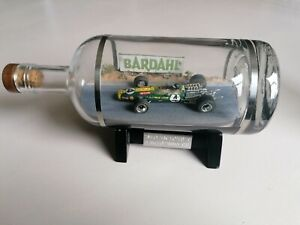 Jim Clark 1/43 Lotus 49 Model Inside A Glass Bottle