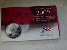 2009 SILVER PROOF SET DISTRICT OF COLUMBIA & U.S. TERRITORIES QUARTERS