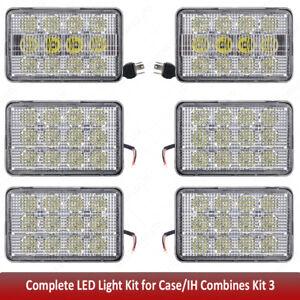 For Case IH 2388,2166,2588,Led Tractor Work Lights Kits 6x4 Led headlights x6pcs