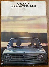 Vintage 1967 Volvo 142 & 144 Car Sales Promotional Brochure Booklet, Very Retro