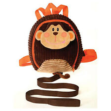 Kids Toddler Monkey Backpack Plush bag Walk Safety Anti-lost Harness w/ Leash