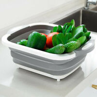 1pcs Kitchen Multifunctional Folding Vegetable Basket Portable Storage Basket