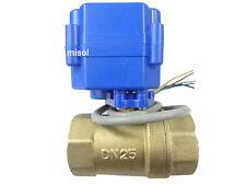 """motorized valve brass, G1"""" DN25, 2 way, CR05, electrical valve, motorized ball v"""