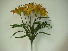 "MULTI COLORS Tiger Lily Bush Artificial Silk Flowers 20"" Bouquet 9-435MTD"