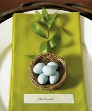 Miniature Bird Nest Wedding Favors Spring Natural Set 12 Decoration Container