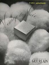 PUBLICITE DE 1951 GUERLAIN POUDRE DE BEAUTE VISAGE FRENCH COSMETIC AD ADVERT