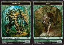 4x TOKEN Lupo 2/2 / Silvantropo */* - Wolf / Treefolk MAGIC C14 Commander En/It