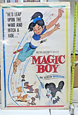 """MAGIC BOY Theatrical One-Sheet Poster 27""""x41"""" 1959 MGM anime film Good Cond"""