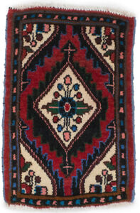 Tribal Design Handmade Tiny Red 1X2 Small Entryway Rug Oriental Kitchen Carpet