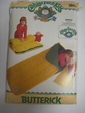 Vintage Butterick 3045 Cabbage Patch Kids SLEEPING BAG Sewing Pattern Child Doll