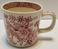 MASON'S IRONSTONE Stratford Pattern Pink Mugs England Beautiful Vintage Floral