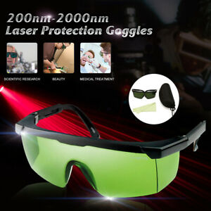 200nm-2000nm Laser Protection Goggles Safety Eyewears Glasses IPL-2 OD+4D W/