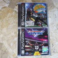 NFL BLITZ + KURT WARNER ARENA FOOTBALL✨PS1 Playstation 1 2 3✨USA Complete Midway