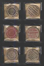 (3) DIFFERENT RED GARTER 5c WOODEN NICKELS NY WORLDS FAIR ++++