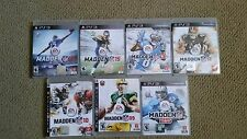 Sony PlayStation 3 Video Games (MADDEN, NHL, MLB, NCAA, NBA, WAR, CAR RACING)