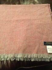 Ralph Lauren Polo Pink Tweed Design Scarf D12 226 s