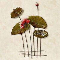 Lotus Flower and Lily Pad Metal Wall Decor Art