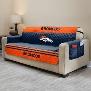 """New NFL Denver Broncos Sofa Protector Slip Cover 75"""" X 110"""" Sofa Slipcovers"""