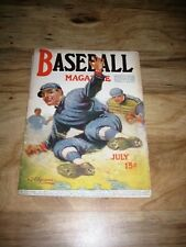 1918 Baseball Magazine July 1918 Good Condition Cover by J F Kernan