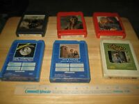 Tom T Hall Hank Thompson Dave & Sugar etc. 8-Track Collection 6 Tapes included