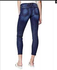 Guess Women's Marilyn 3 Zip Ankle Skinny Jeans Dark Blue Size 25